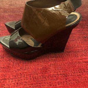 Marni platform shoes size 40 black and brown